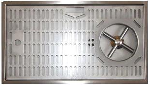 Ociekacz Inox 20x40 ze spryskiwaczem